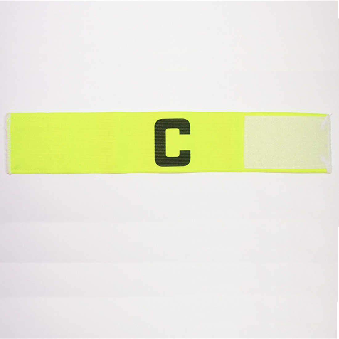 Открытый футбол гибкий Спортивный Регулируемый плеер voetbal полосы флуоресцентный капитан нарукавник футбол