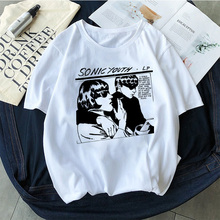 ace9fe9ec Sonic Youth Album Cover Vintage Rock t-shirt Women Grunge Vogue Tops Tees  Short Sleeved