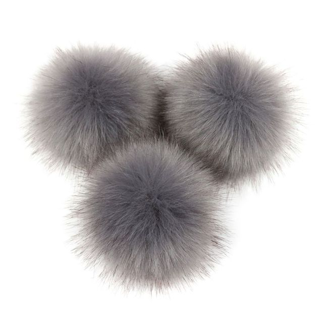 VIccoo 16 Colors 8//10cm DIY Artificial Faux Mink Fur Fluffy Pompom Ball Solid Color For Knitting Hat Shoes Scarves Bag Handbag Charms Ornament 8cm B