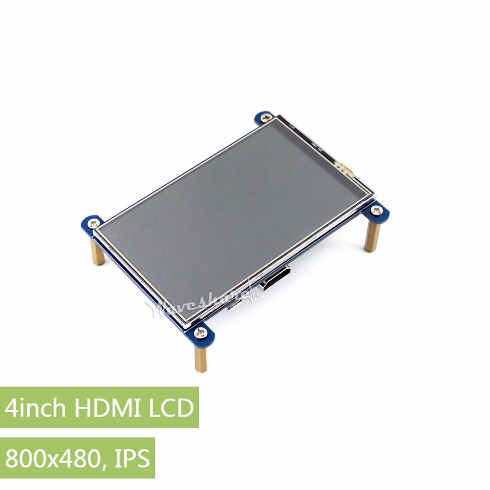 Parts 4inch HDMI LCD Resistive Touch Screen IPS Screen HDMI interface 800*480 Resolution Designed for Raspberry Pi 8 4 8 inch industrial control lcd monitor vga dvi interface metal shell open frame non touch screen 800 600 4 3