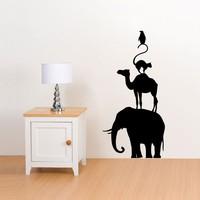KUCADA camera Per Bambini Creativi FAI DA TE Art Wall Stickers Decorazione Della Casa Carta Da Parati In Vinile Elefante Cammello Gatto Pinguino