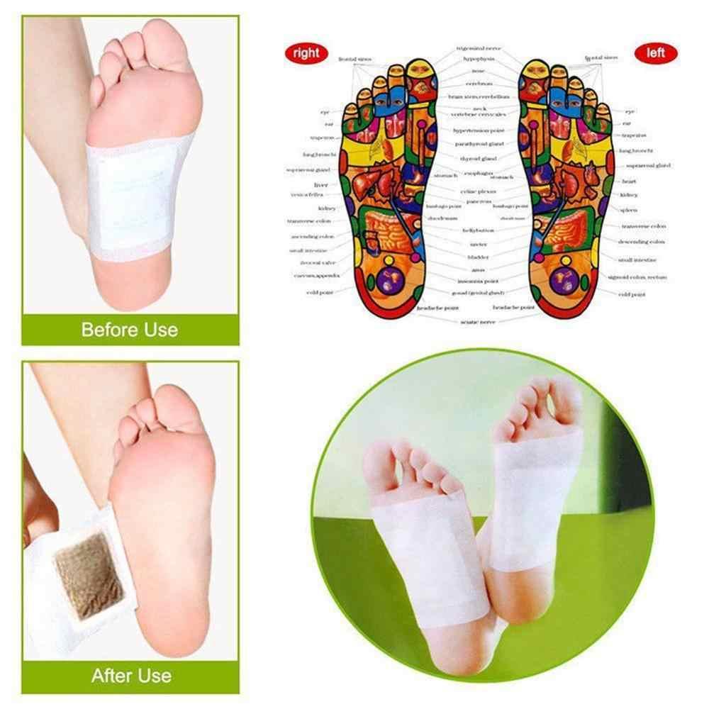 10 pcs NOVO KINOKI almofadas do pé do detox remendo do pé do detox remendo cuidados com os pés ferramenta de Segurança da cor do ouro