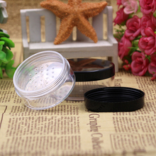 30g/50g Loose Powder Jar with Sifter Empty Cosmetic Container Makeup Compact Round cosmetic bottle 10ml empty loose powder jars with mirror powder puff black diy make up powder compact cosmetic packing container free shipping