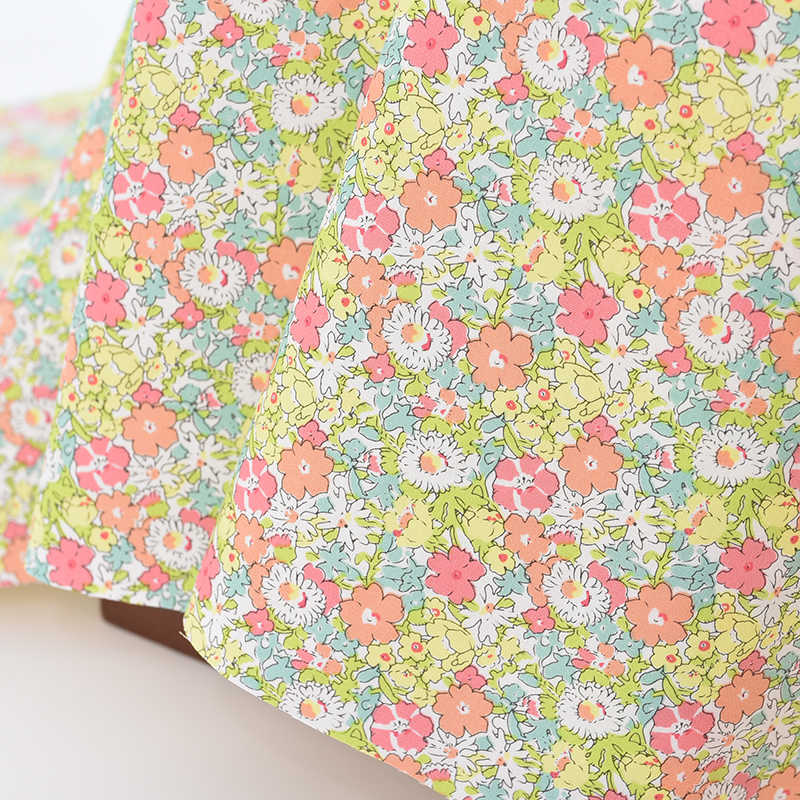 50*150cm Pink Flower Series Cotton Twill Fabric,DIY Sewing Quilting Fat Quarters Material For Baby&Child D30