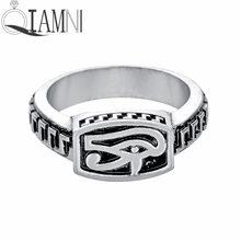 b0f38b33c8a8 QIAMNI hecho a mano ojo egipcio de Horus Faraón amuleto anillo eslavo nórdico  vikingo amuleto fiesta joyería regalo para hombres.