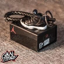 цена на Sneaker AIR  big devil King Jordan 11 generation sneaker stereo 3D model keychain Car key chain