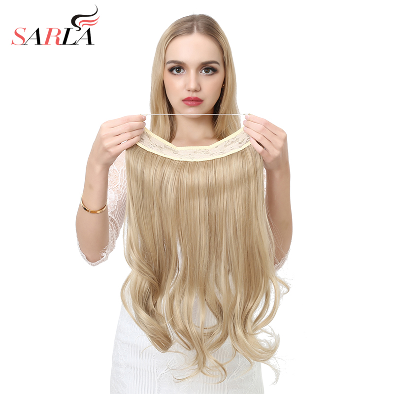 Sarla 10pcslot 20 synthetic halo hair extensions wire hidden sarla 10pcslot 20 synthetic halo hair extensions wire hidden hairpieces high temperature fiber no clips no glue m01 in synthetic clip in one piece from pmusecretfo Choice Image