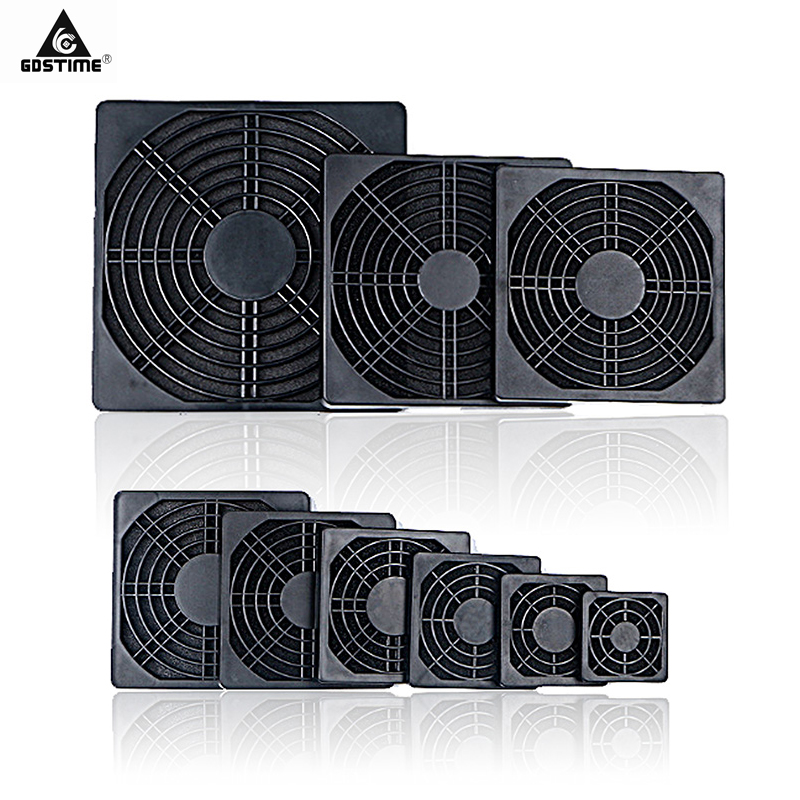20PCS Gdstime Dustproof 40mm 50mm 60mm <font><b>80mm</b></font> 90mm 120mm PC Case <font><b>Fan</b></font> Dust Filter Guard Grill Protector Cover Plastic ComputerFan image