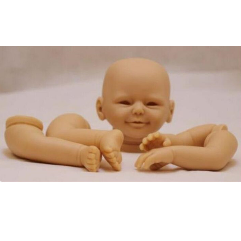 Reborn Doll Kits for 20inches Soft Vinyl Reborn Baby Dolls Accessories for DIY Realistic Toys for DIY Reborn Dolls Kits dk-77 good price reborn baby doll kits for 17 baby doll made by soft vinyl real touch 3 4 limbs unpainted blank doll diy reborn doll