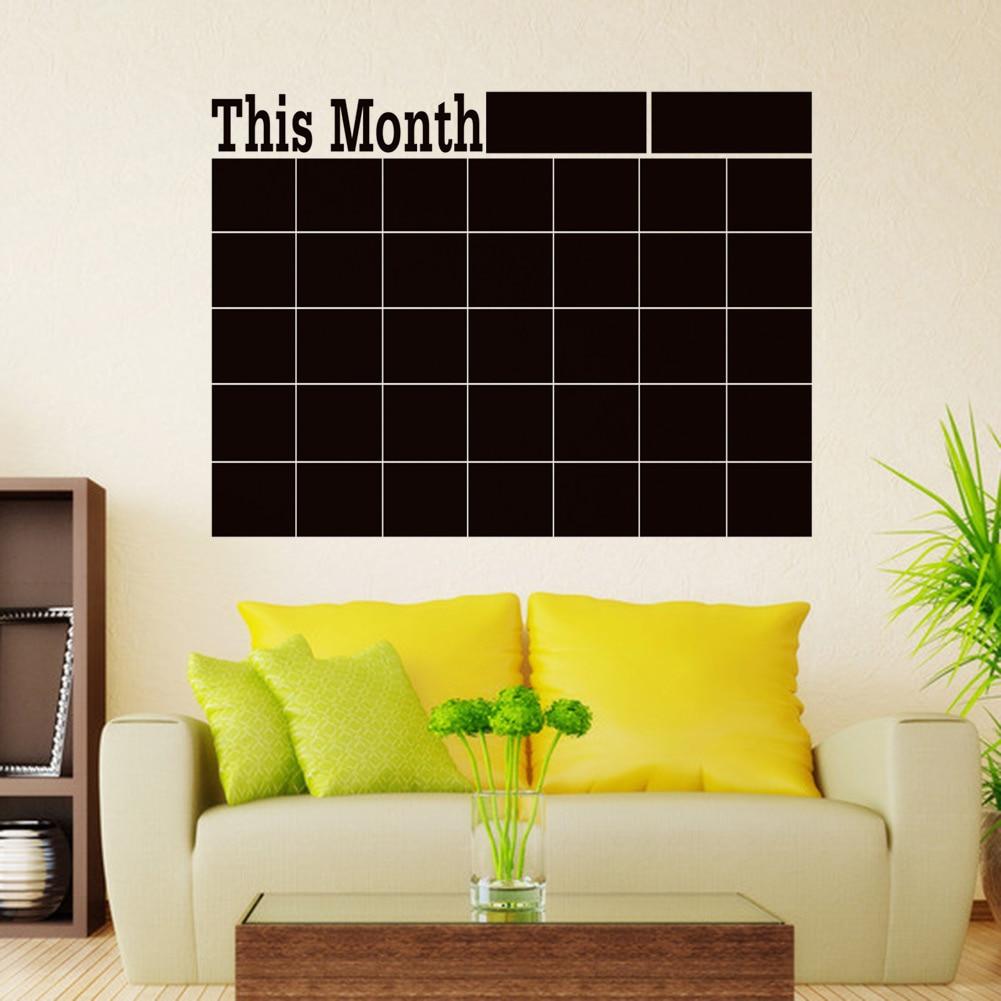 Monthly Chalkboard Board Blackboard Removable Wall Sticke For ...