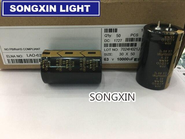 4pcs/lot ELNA AUDIO Electrolytic Capacitor 10000UF 63V 30*50mm