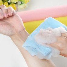 Длинная полоска назад скруббер мойка чистка инструмент чистая богатое мыло пузырьковое мытье Ванна сильный душ отшелушивающее полотенце