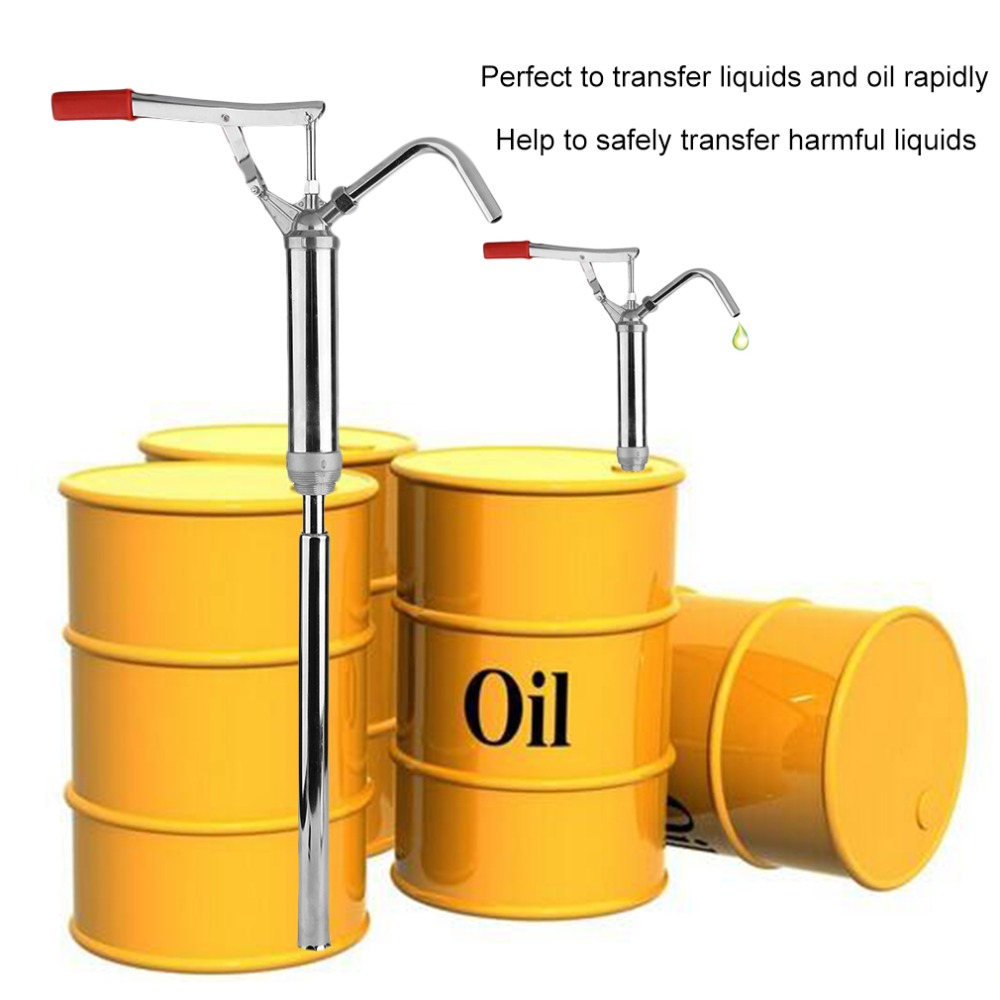 Portable Manual Oil Pump With Lever Transfer Drum Barrel For Gas Oil Water Chemical Detergent Liquid Lubricant Wine