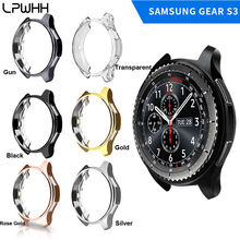 LPWHH TPU Plated Watch Case For Samsung Gear S3 Protective Silver Rose Gold Black Gun Colorful Cases Eta Movement