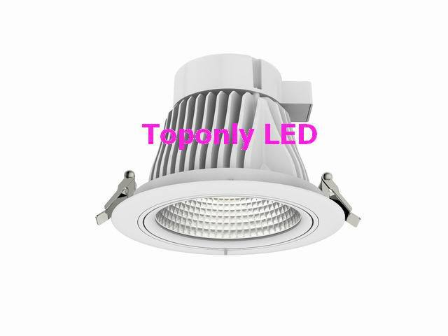 ФОТО Europe style Luna 85lm/w CRI>80 high bright Epistar chips cob led downlight 25w rotatable LED ceiling spot lamp 2014 hot selling