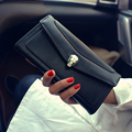 Pu Long Women Vintage Wallet Casual Diamonds Decorated Clutches Bag Fashion Luxury Purse Female Carteira Card Holder