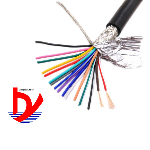 Wire and cable 15AWG 1.5mm2 multi core shielded cable RVVP 2/3/4/5/6/7/8/10/12/14/16/20/24 anti interference control line signal