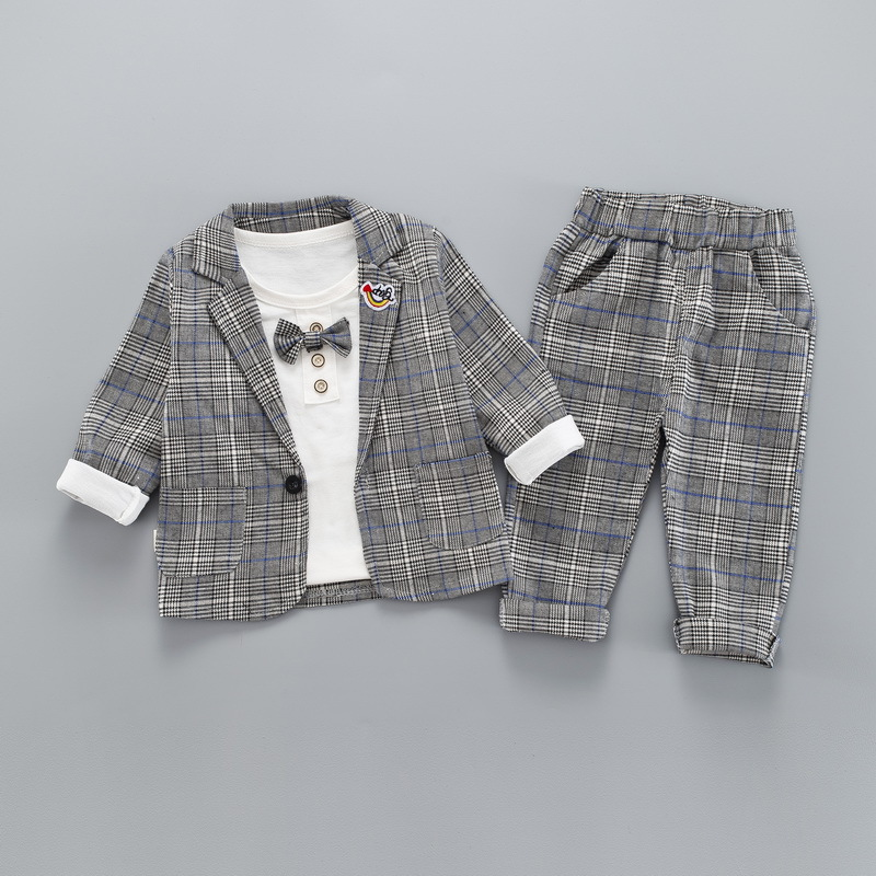 Dollplus Kids Boys Suits for Weddings 3pcs Gentleman Suit for Boy Formal Kids Wedding Clothes Elegant Boy Clothing Party in Blazers from Mother Kids