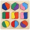 1 ШТ. Деревянные 3D Геометрии Stracking Блок Оригинальный Интеллект Игрушки для Развлечения Детей Раннего Образования Обучающие Игрушки Детские Подарок