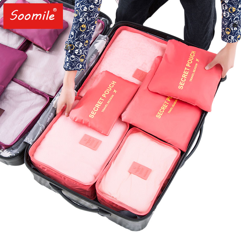 New travel bag suit high Quality Oxford cloth ms travel mesh bag in bag luggage Organizer packing cube Organiser for clothing