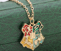 Potter Anime Hogwarts School Badge Movie Harry Necklace Pendant Collier Femme Ethnique Collares Mujer Anime Erkek Bayan Kolye