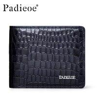 Padieoe Brand Crocodile Pattern 100% Genuine Cow Leather Wallet Business Leisure Men Purse Fashion Luxury Leather men Wallets
