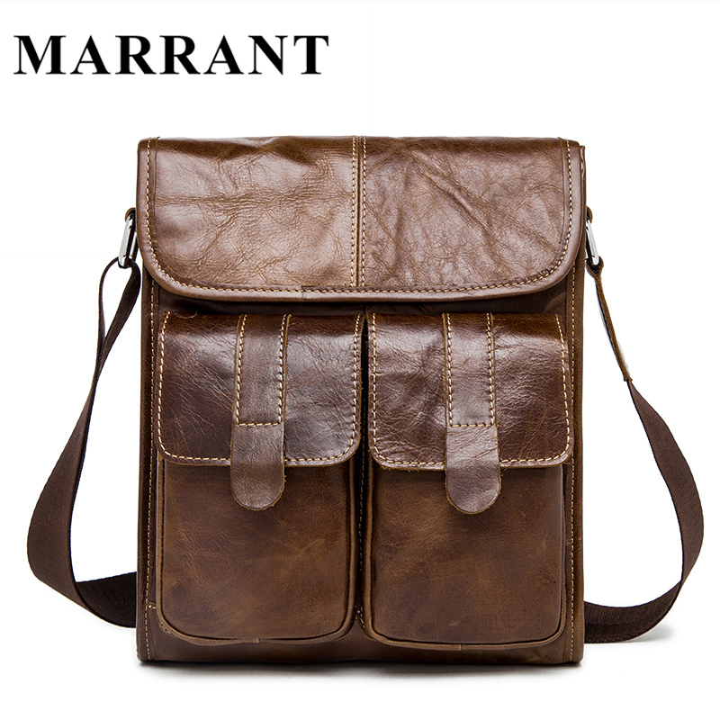 ФОТО Marrant Genuine Leather bag men bags men's messenger small shoulder crossbody bags for man Handbags men's leather bag flap 2017