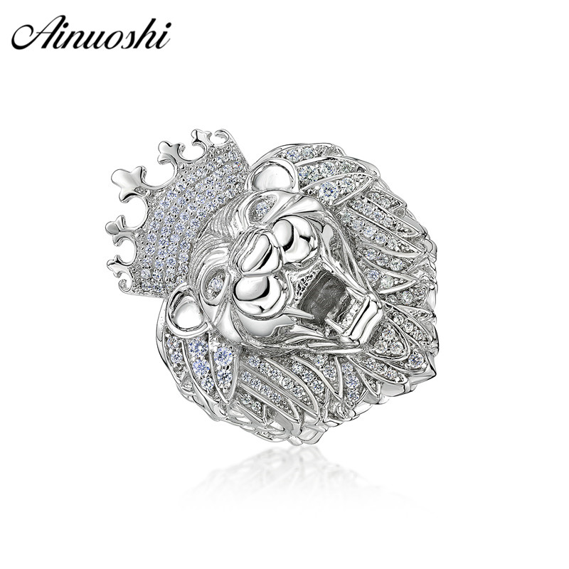 AINOUSHI Exaggrate 925 Sterling Silver Wedding Engagement Lion King Rings Male Silver Anniversary Party Rings pero llama JewelryAINOUSHI Exaggrate 925 Sterling Silver Wedding Engagement Lion King Rings Male Silver Anniversary Party Rings pero llama Jewelry