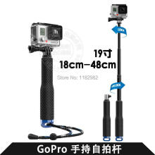 Wholesale prices tick 49cm Gopro Aluminum Handheld Monopod Telescoping Pole with Tripod Mount Adapter for Travel Sj5000 Sj4000