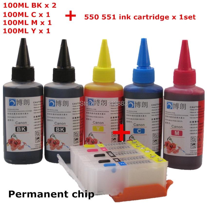 PGI 550 Refillable ink cartridge for CANON IP7250 MG5450 MG5550 MG6450 MG5650 MG6650 IX6850 MX725 MX925