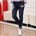 Nueva Moda de Invierno de Las Mujeres Jeans Pantalones Harem Ripped Stretch Delgado Lápiz De Cintura Alta Pantalones Pantalones Pantalon Femme Plus Tamaño 5XL