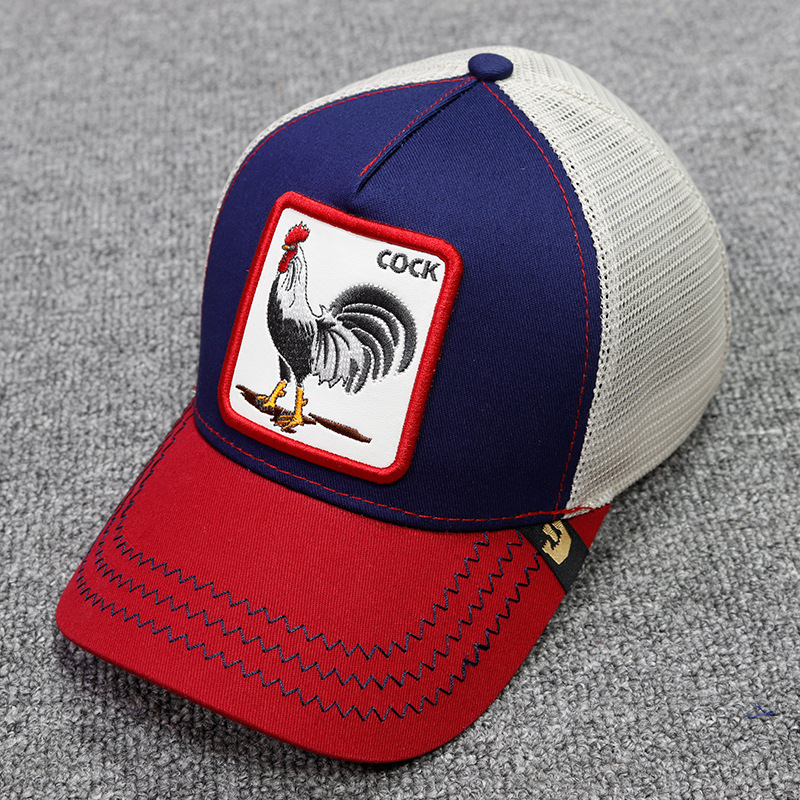 2019 High Quality Summer   Baseball     Cap   Men Women Animals Hat Cock Bull Tiger Lion Bee Mesh   Cap   Snapback Dad Hat