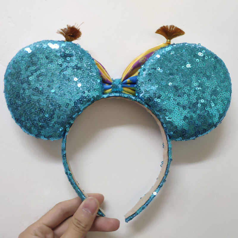 דיסני קטיפה סרט אביזרי אלדין מיקי עכבר אוזני 3D קריקטורה שיער אבזם שיער להקות ילדה צעצועי ליל כל הקדושים מפלגה מתנות