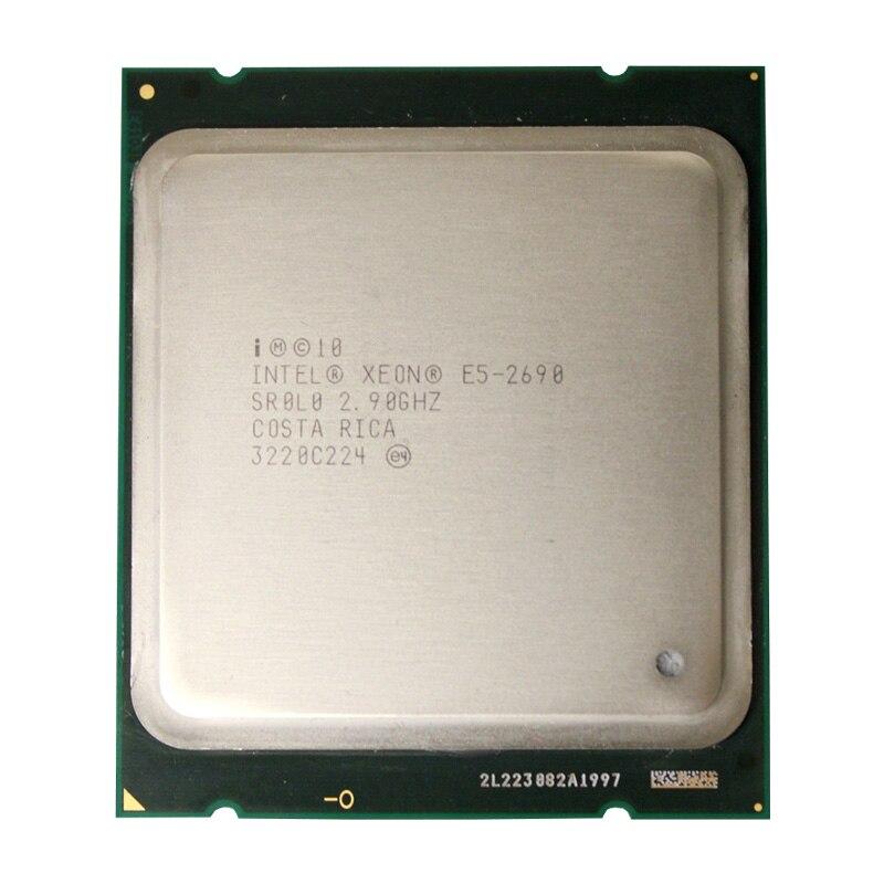 Intel Xeon Processor E5 2690 Eight Core 2.9G SROL0 C2 LGA2011 CPU PC Server Desktop Processor