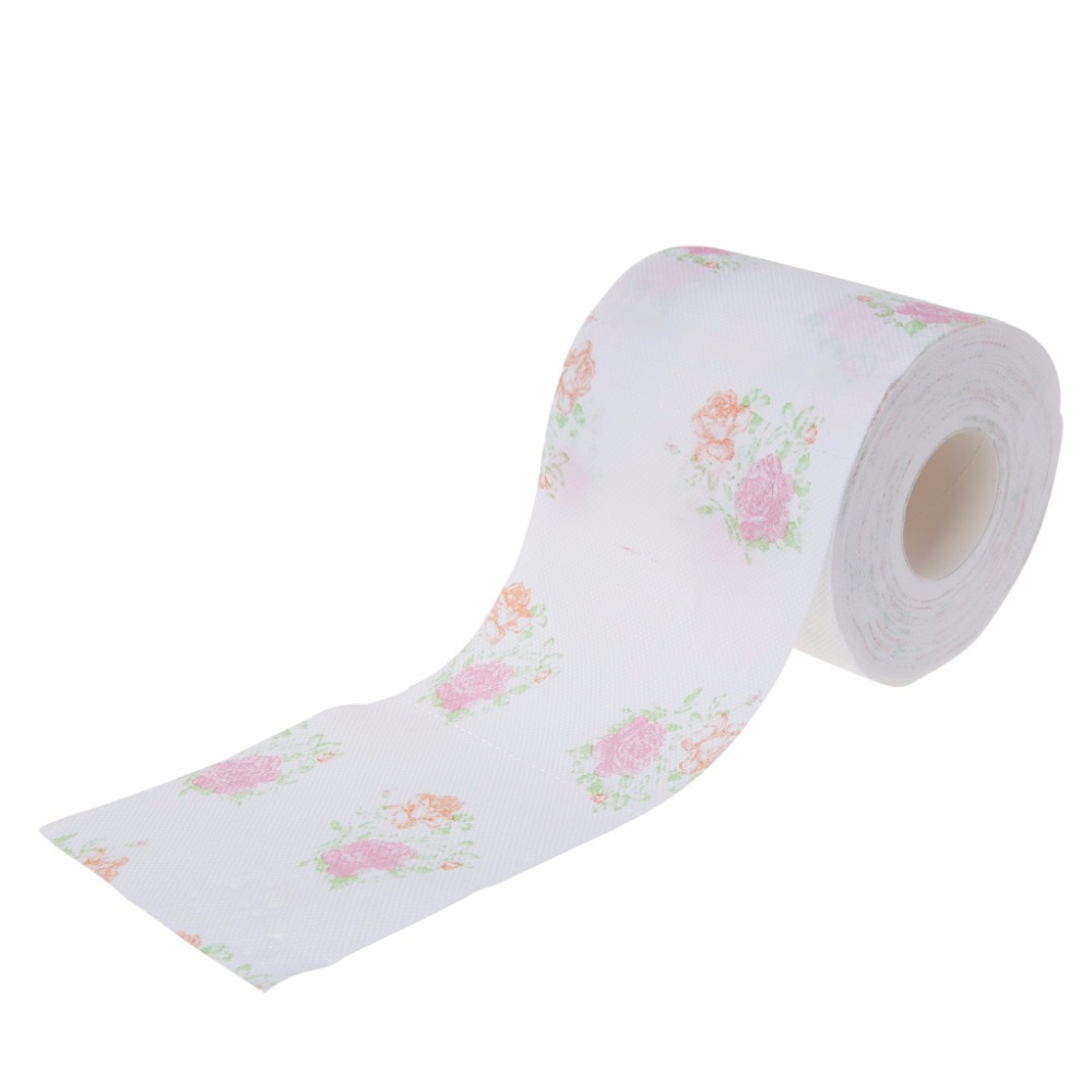 FSHALL 10x9.5cm Flower Floral Toilet Paper Tissue Roll Bathroom Novelty Funny Gift  240 Sheets /Roll #3TD01152#