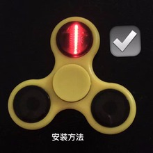 Finger Rock Fidget Spinner LED Lights Flash Shining Hand Spinner Fidget Stress Relief Toys for EDC ADHD Autism for Adult Present