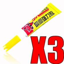 3Pcs 3g Instant Strong Super Glue 502 Cyanoacrylate Adhesive Liquid School Wood Rubber Leather Paper Stationery Store DIY Craft
