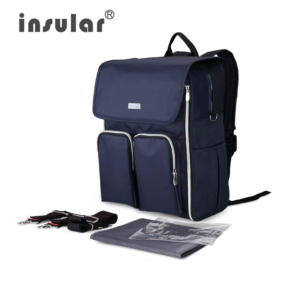 Insular Multifunctional Nappy Bag Fashion Patchwork Mommy Backpack Changing Bags New Fashion Brand Insular Baby Diaper BackpacksInsular Multifunctional Nappy Bag Fashion Patchwork Mommy Backpack Changing Bags New Fashion Brand Insular Baby Diaper Backpacks