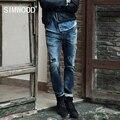 Simwood 2016 Chegada Nova Mens Jeans Marca Destruído Buraco Jeans Reta calças de Brim dos homens Denim calças de Brim Harém Homens Frete Grátis
