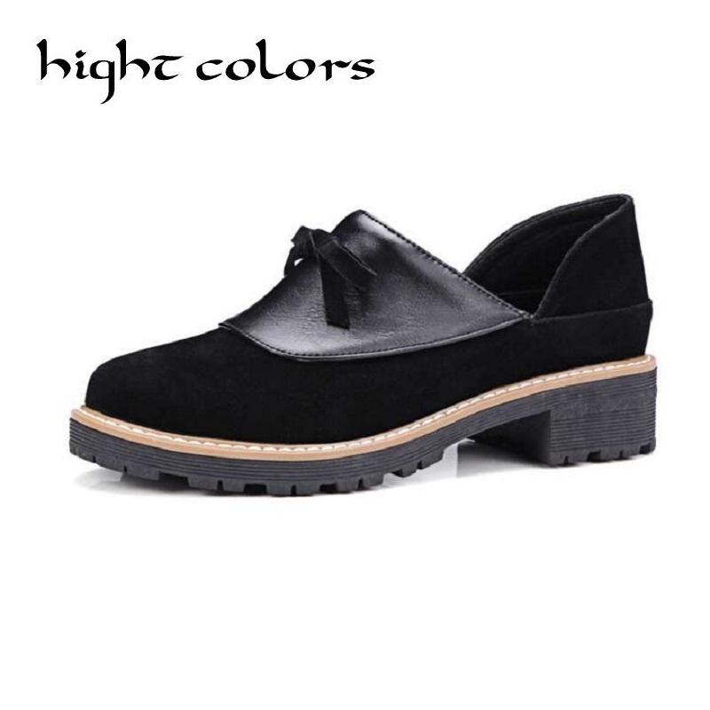 New Women Casual Slip-on Loafers Fashion Bowtie Patchwork Flock Flats For Women Ladies Casual Flat Shoes Big Size 34-42 new round toe slip on women loafers fashion bow patent leather women flat shoes ladies casual flats big size 34 43 women oxfords