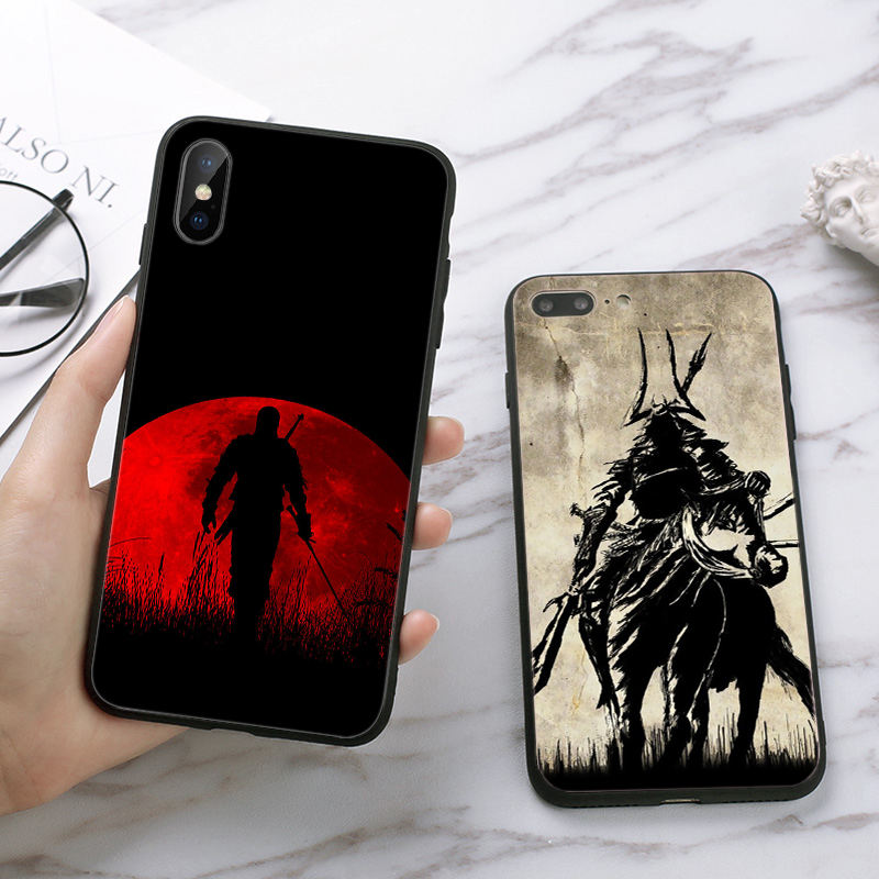 Lavaza Japan The samurai Ninja DIY Printing Drawing Silicone Case for iPhone 5 5S 6 6S Plus 7 8 11 Pro X XS Max XR in Half wrapped Cases from Cellphones Telecommunications