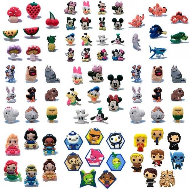 4-8 cái The Avengers Finding Nemo PVC Quyến Rũ Giày Giày Khóa Phụ Kiện Phù Hợp Với Ban Nhạc Vòng Tay Cá Sấu JIBZ, trẻ em Bên Quà Tặng