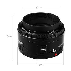 """Image 3 - YONGNUO YN 50 מ""""מ עדשת פוקוס אוטומטי עדשה 50 מ""""מ צמצם גדול F1.8/f1.8 לcanon EOS מצלמות DSLR"""