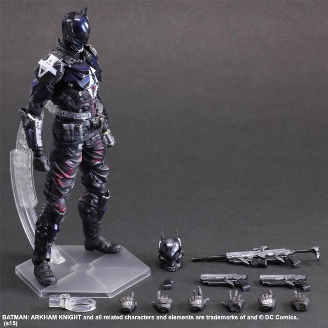 XINDUPLAN DC Comics Play Arts Justice League Arkham Knight Batman Movable Action Figure Toys 27cm Kids Collection Model 0272 xinduplan dc comics play arts kai justice league batman reloading dawn justice action figure toys 25cm collection model 0637