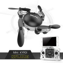 2017 NUEVO Profesional KY901 WiFi FPV RC Quadcopter RC Helicóptero Mini dron plegable selfie drone con cámara hd cámara de wifi vs h37 h31