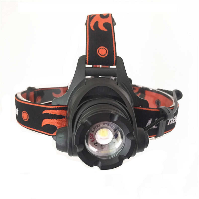 2016 New 18650 Headlamp 2500 Lumens XM-L2 U2 LED 3 Mode Waterproof lantern Zoom Headlight For Hiking Camping 407 Outdoor fishing new 003a 3 mode white zoom led headlamp black 4 x aa