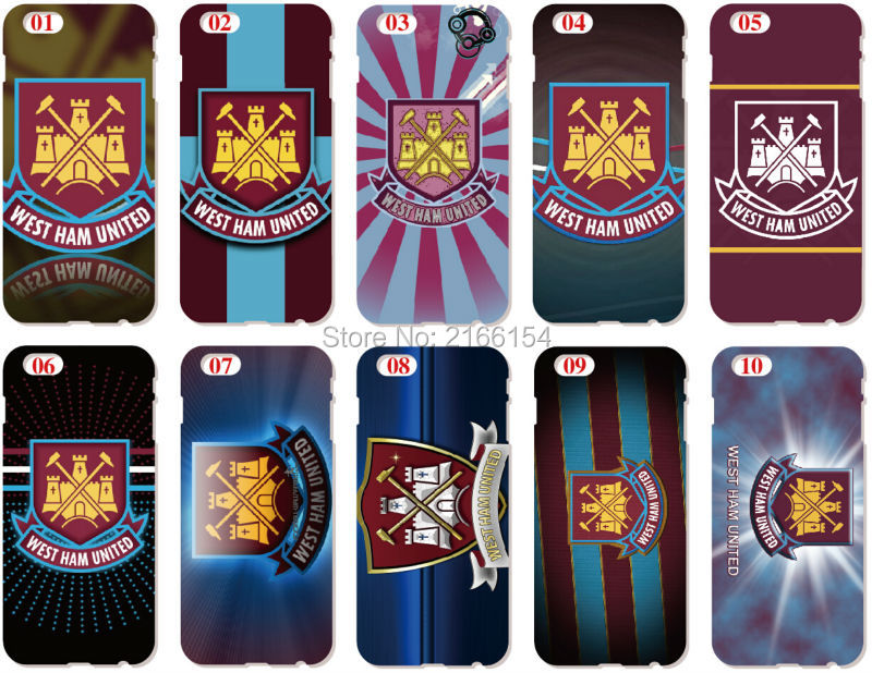 West Ham United Shell Cover For iphone 10 X 4 4S 5 5S SE 5C 6 6S 7 8 Plus For iPod Touch 5 6 Phone Case Coque Fundas Bumper Capa