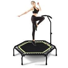 С шестигранной головкой 45/48 дюймов тихий батут w/поручень для взрослых и детей цветной домашний спортзал Фитнес кардио прыгать тренировки для стабильных тренировок упражнения