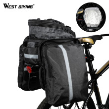 WEST BIKING Mountain Road Bicycle Bag Bike 3 in 1 Trunk Bag Cycling Double Side Rear Rack Tail Seat Pannier Pack Luggage Carrier(China)