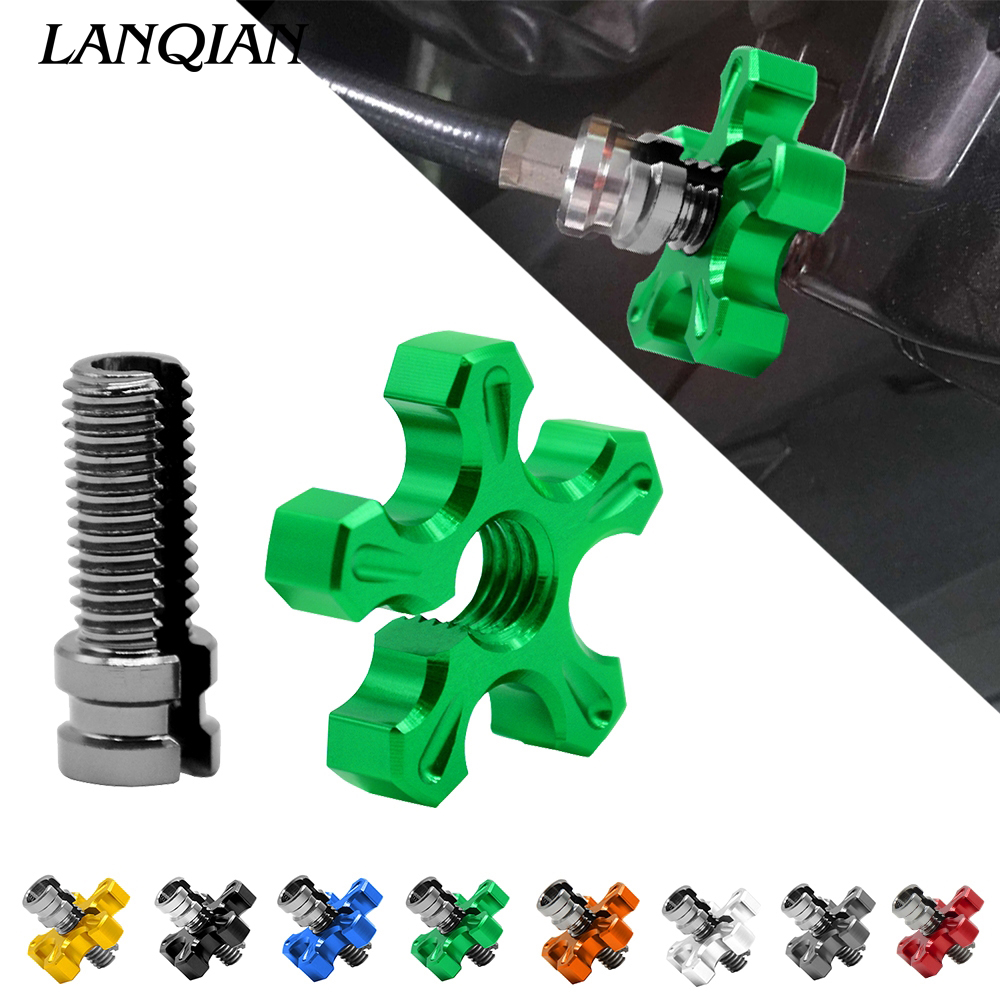Universal Motorcycle CNC Aluminum Clutch Cable Wire Adjuster for Honda CR YZ RM KX 85 CRF YZF crf 450 XR XL 125 250